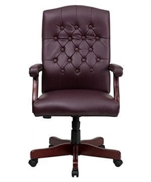 Flash Furniture Martha Washington Executive Swivel Chair With Arms 0 2 300x360