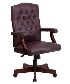 Flash Furniture Martha Washington Executive Swivel Chair With Arms 0 300x360