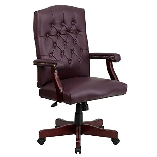 Flash Furniture Martha Washington Executive Swivel Chair With Arms 0