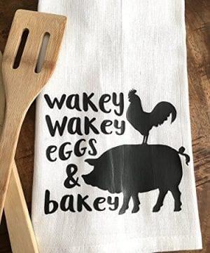 Funny Kitchen Towel Eggs And Bacon Tea Towel Farmhouse 0 3 300x360