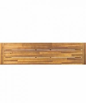 GDF Studio 300496 Colonial Outdoor Sandblack Finish Acacia Wood Rustic Metal Bench Brown 0 2 300x360