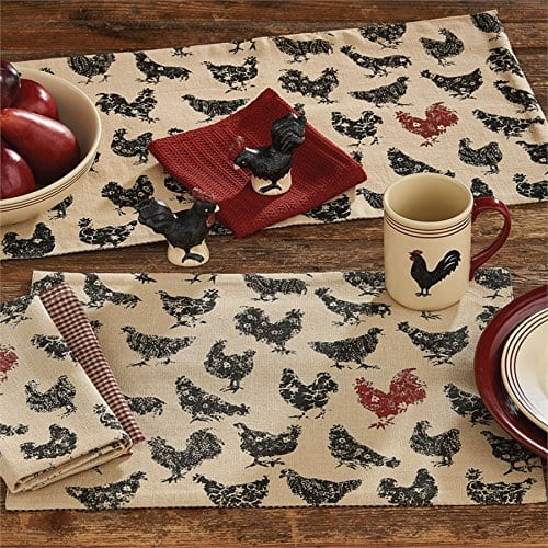 Hen Pecked Rooster Placemat Set Of 4 Rooster Table Mat 0 1