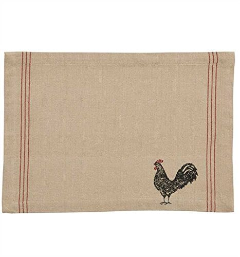 Hen Pecked Rooster Placemat Set Of 4 Rooster Table Mat 0