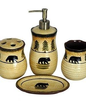HiEnd Accents 4 Piece Bear Bathroom Accessories Set 0 300x360