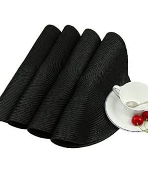 Homcomoda Round Placemats Insulation Braided Edge Round Table Mats For DiningKitchen Table Placemats Set Of 6 15 0 2 300x360
