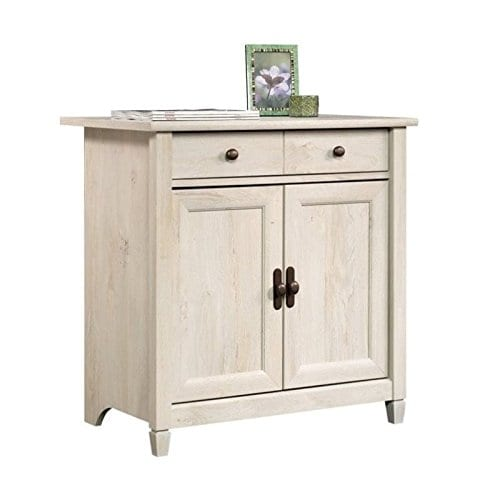 Home Square Rustic 2 Piece Executive Desk And Office Chest In Chalked Chestnut 0 0