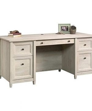 Home Square Rustic 2 Piece Executive Desk And Office Chest In Chalked Chestnut 0 1 300x360
