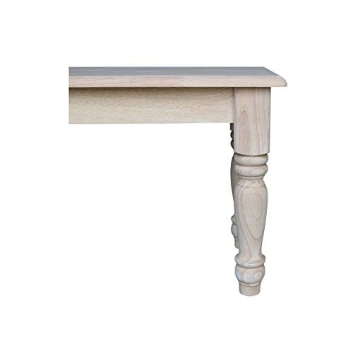 International Concepts Unfinished Farmhouse Bench 0 2