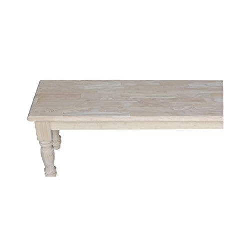 International Concepts Unfinished Farmhouse Bench 0 3