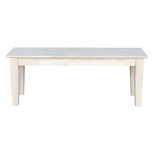 International Concepts Unfinished Shaker Style Bench RTA 0 0