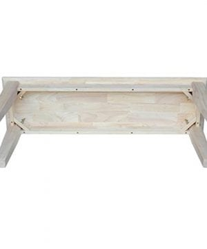 International Concepts Unfinished Shaker Style Bench RTA 0 2 300x360