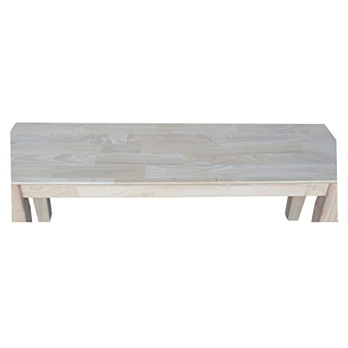 International Concepts Unfinished Shaker Style Bench RTA 0 3