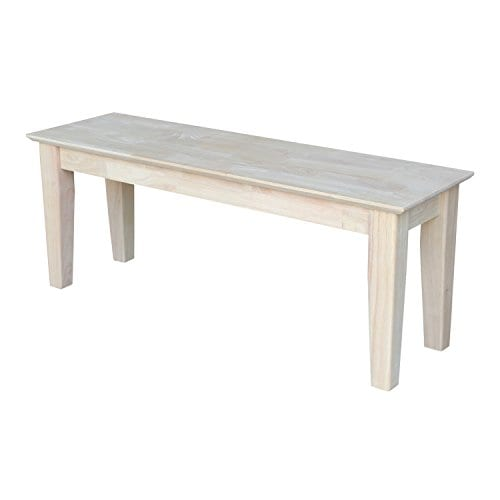 International Concepts Unfinished Shaker Style Bench RTA 0