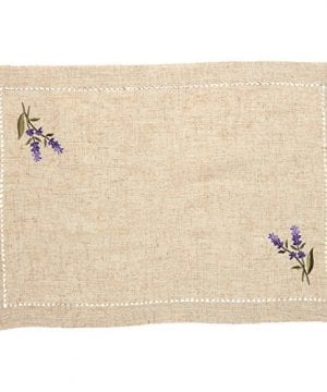 Juvale Placemats Set 4 Set Dining Table Mats With Embroidered Lavender For Kitchen Dining Table Decor Brown 1925 X 14 Inches 0 0 300x360