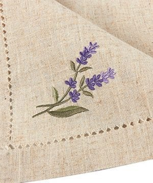 Juvale Placemats Set 4 Set Dining Table Mats With Embroidered Lavender For Kitchen Dining Table Decor Brown 1925 X 14 Inches 0 1 300x360