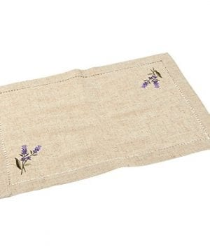 Juvale Placemats Set 4 Set Dining Table Mats With Embroidered Lavender For Kitchen Dining Table Decor Brown 1925 X 14 Inches 0 2 300x360