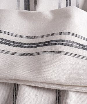 KAF Home Classic Farmhouse Stripe Kitchen Towels Set Of 12 15 X 25 100 Pure Cotton Dish Towels Perfect Bar Towel Dish Cloths For Cooking Cleaning And Dining 0 2 300x360