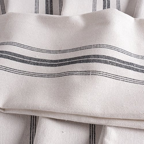 KAF Home Classic Farmhouse Stripe Kitchen Towels Set Of 12 15 X 25 100 Pure Cotton Dish Towels Perfect Bar Towel Dish Cloths For Cooking Cleaning And Dining 0 2