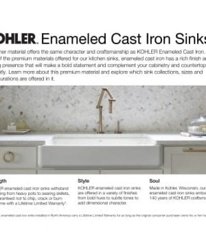 KOHLER Dickinson Apron Front 33 Inch By 22 18 Inch Tile In Single Bowl Kitchen Sink 0 0 300x360