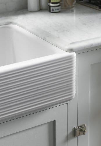 KOHLER K 6349 0 Whitehaven Hayridge Under Mount LargeMedium Double Bowl Kitchen Sink With Tall Apron White 0 2