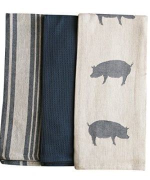 Kitchen Dish Towel By FED Extra Large Tea Towel In 3 Variations 100 Professional Cotton Machine Washable Fabric SetPack Of 3 0 1 300x360