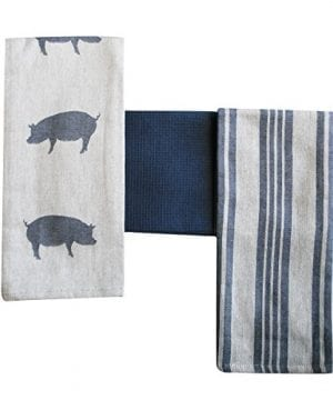 Kitchen Dish Towel By FED Extra Large Tea Towel In 3 Variations 100 Professional Cotton Machine Washable Fabric SetPack Of 3 0 2 300x360