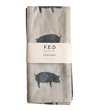 Kitchen Dish Towel By FED Extra Large Tea Towel In 3 Variations 100 Professional Cotton Machine Washable Fabric SetPack Of 3 0 3 300x360