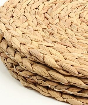 Koyal Wholesale Water Hyacinth Placemats 13 Round Mat Weave Charger Plates Set Of 4 Eco Friendly Tropical Wedding Or Home Decor 0 300x360