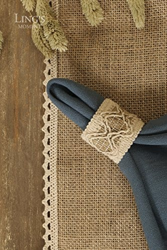 Lings Moment 4 Set Jute Rustic Burlap Placemats Country Vintage Thanksgiving Dinner Decoration Farmhouse Kitchen Table Decorfor Parties BBQs Holidays Use Set Of 4 0 0
