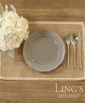 Lings Moment 4 Set Jute Rustic Burlap Placemats Country Vintage Thanksgiving Dinner Decoration Farmhouse Kitchen Table Decorfor Parties BBQs Holidays Use Set Of 4 0 3 300x360