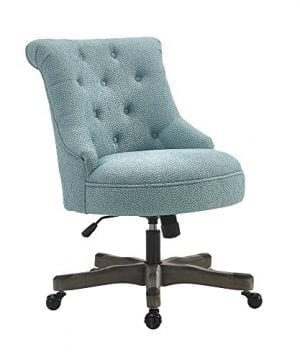Linon AMZN0240 Talia Light Blue Office Chair 0 300x360