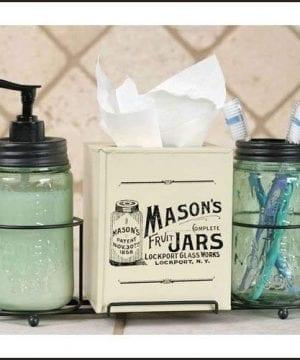 Mason Jar Bathroom Caddy 0 300x360