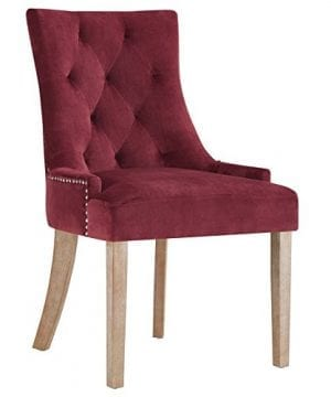 Modway Pose Velvet Polyester Upholstered Tufted Dining Chair With Nailhead Trim 0 300x360