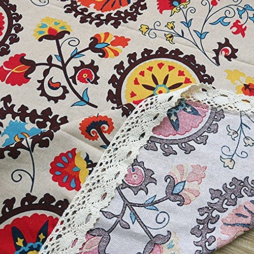 Oyeahbridal Country Style Vintage Cotton Linen Tablecloth Lace Macrame Decorative Fabric Dining Table Cover 0 1