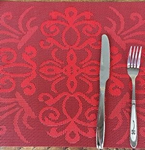 Placemats Ivalue PVC Place Mats Washable Bamboo Placemats For Table Non Slip Woven Plastic Table Mats 0 1 300x310