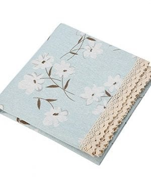 Rectangle Tablecloth Farmhouse Style Blue Flower Printing Waterproof Oilproof Tablecovers 90x90CM Perfect For Holiday Home Decor 0 2 300x360