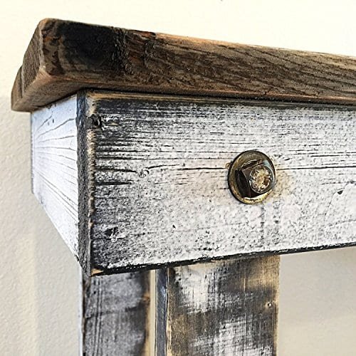 Rustic Handcrafted Reclaimed Bench Easy Self Assembly 36x12x18 0 3
