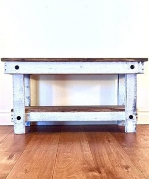 Rustic Handcrafted Reclaimed Bench Easy Self Assembly 36x12x18 0 300x360