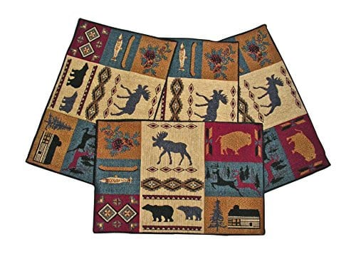 Rustic Lodge Northwestern Design Placemats Set Of 4 13x19 Inches 0