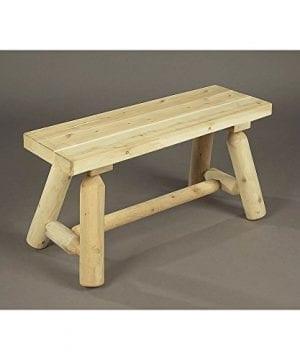 Rustic Natural Cedar Furniture 3 Straight Bench 2016 Design 1Box 0 300x360