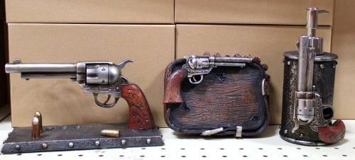 Rustic Western Six Shooter Pistol 3 Piece Bathroom Vanity Set 0