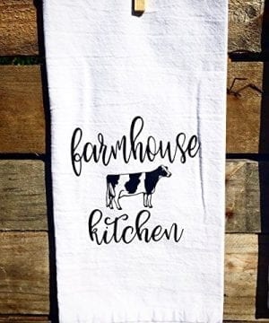 SET OF 2 Matching Farmhouse Inspired Flour Sacks Kitchen Towels Housewarming Gifts Christmas Gifts 0 1 300x360