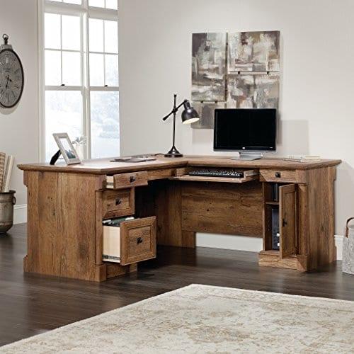 Sauder 420606 Palladia L Vo A2 Computer Desk Vintage Oak 0 1