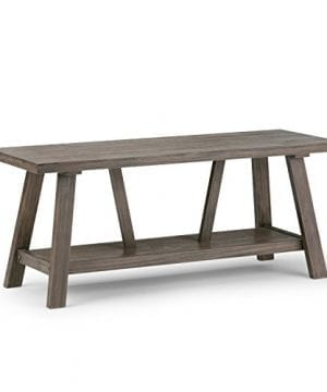 Simpli Home Dylan Solid Wood Entryway Bench Driftwood 0 300x360