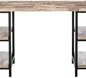 Skelton Writing Desk With Metal Frame Salvaged Cabin And Black 0 0 300x272