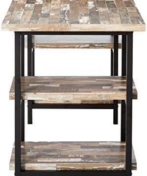 Skelton Writing Desk With Metal Frame Salvaged Cabin And Black 0 1 300x360