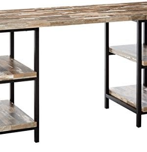 Skelton Writing Desk With Metal Frame Salvaged Cabin And Black 0 300x310