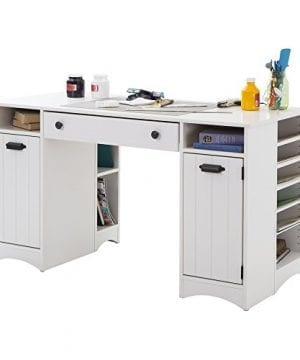 South Shore Artwork Craft Table With Storage Pure White 0 0 300x360