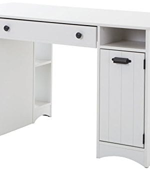 South Shore Artwork Craft Table With Storage Pure White 0 300x341