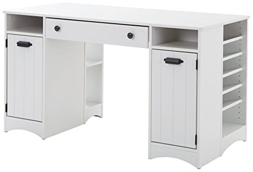 South Shore Artwork Craft Table With Storage Pure White 0